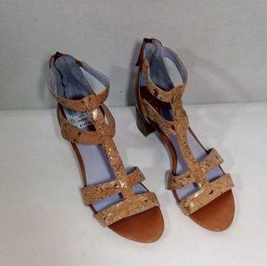 "Johnston & Murphy Shoes - Johnston and Murphy ""Kallie"" Back Zip Sandal"